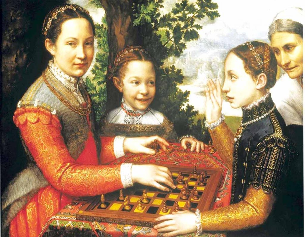 Sofonisba Anguissola, The Chess Game,, 1555, National Museum, Poznań, Poland